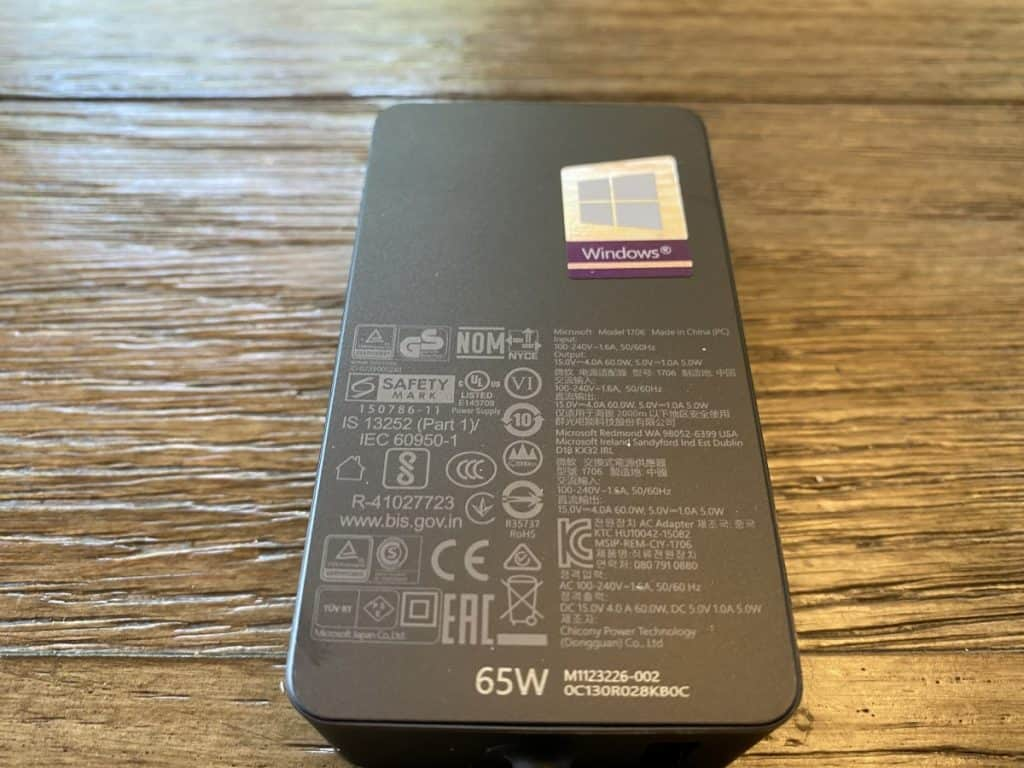 65w surface pro charger