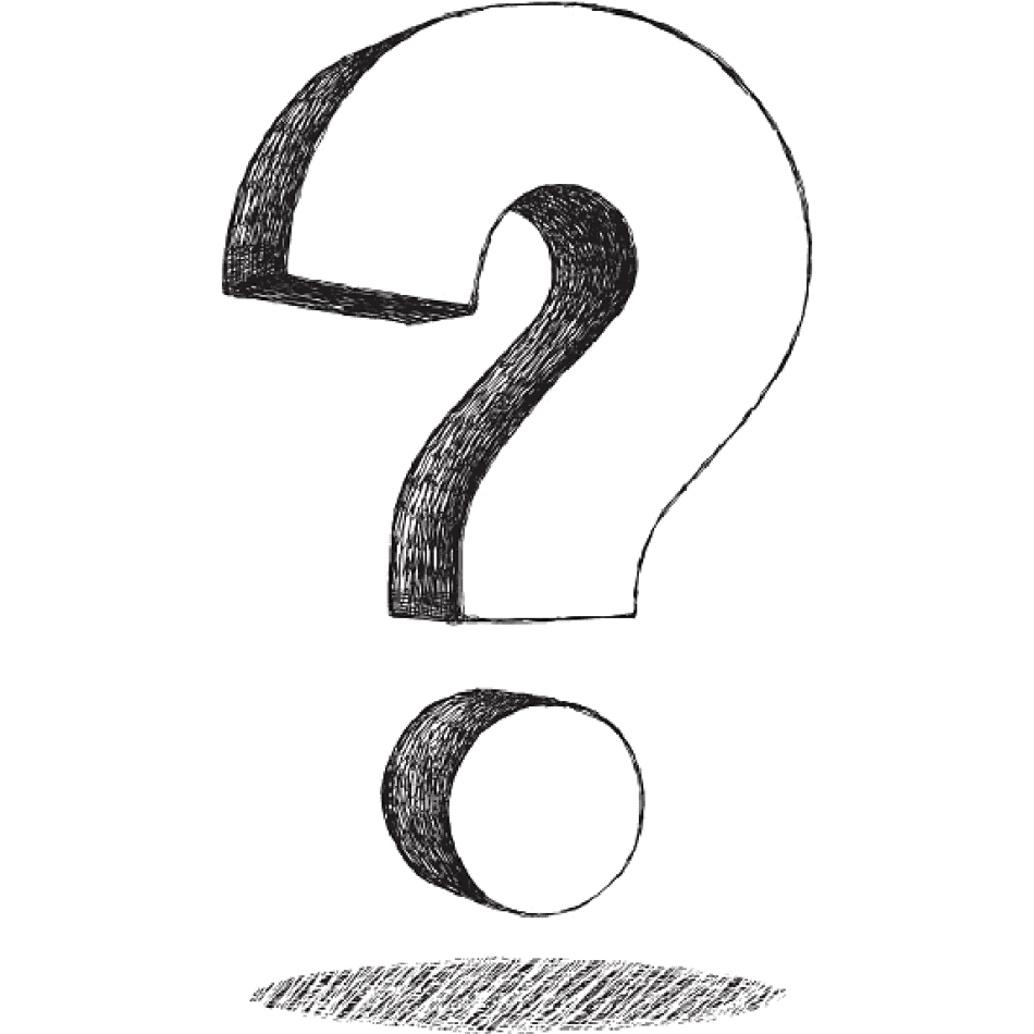 sketched question mark