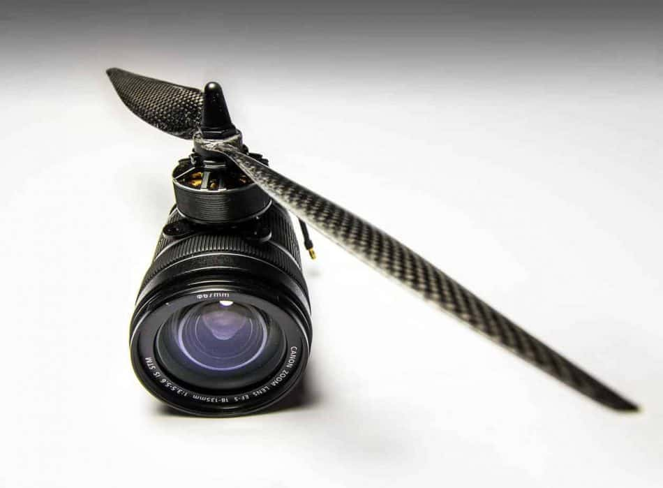 camera lenses with propeller