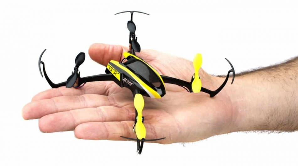small drone in hand