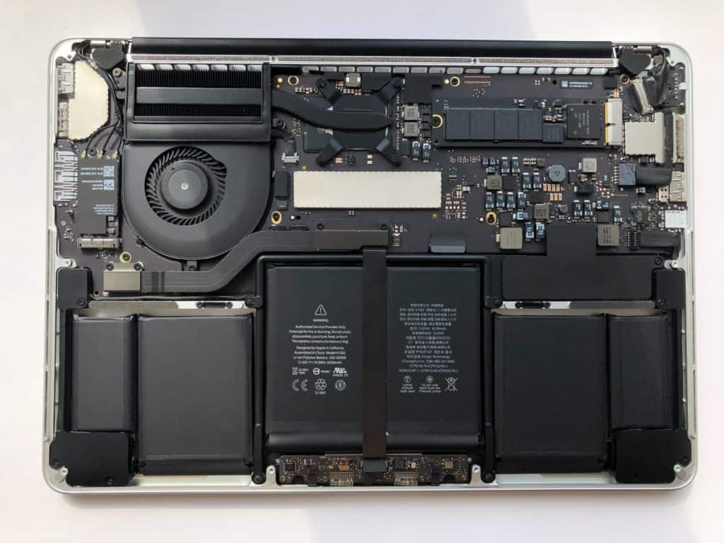 laptop motherboard and card close up
