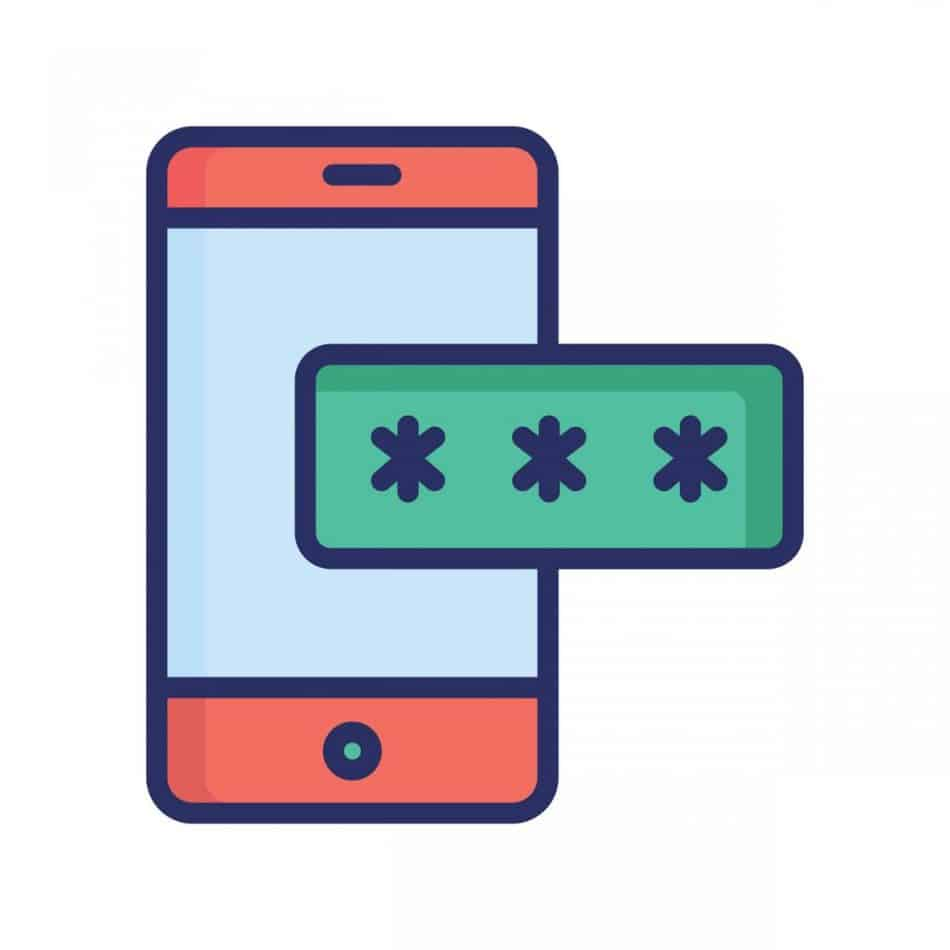 Mobile password icon which can easily modify or edit