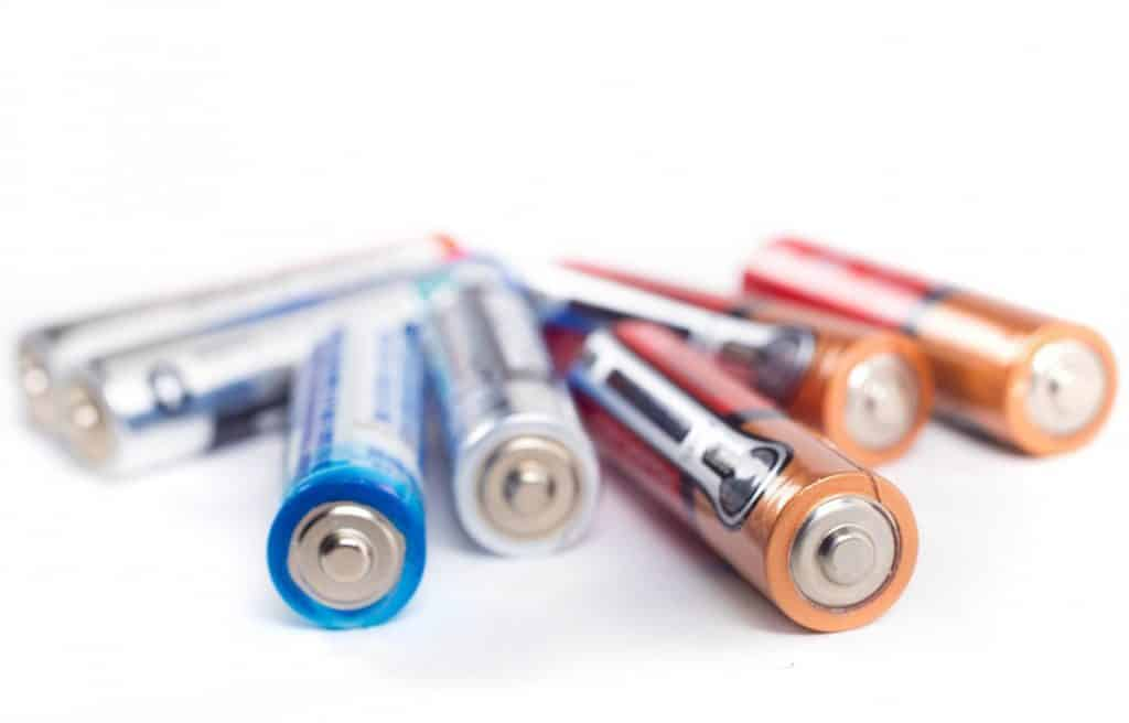 Used disposable batteries