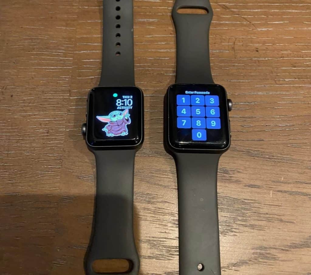 Male and Female apple watch side by side