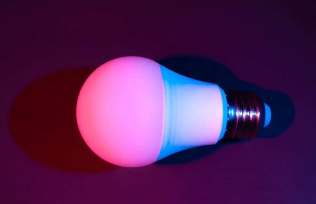 Smart LED lamp, economical and durable with the ability to adjust color and brightness