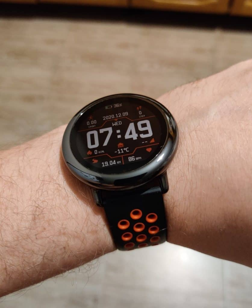 Smart watch on the hand