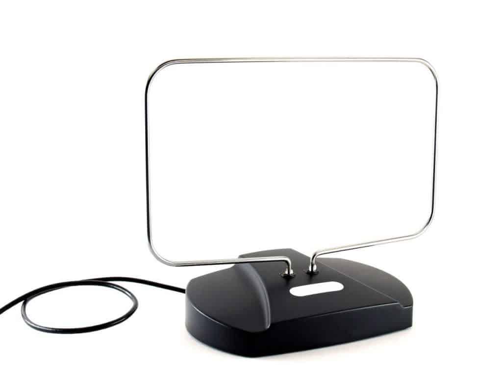 TV antenna isolated on white background