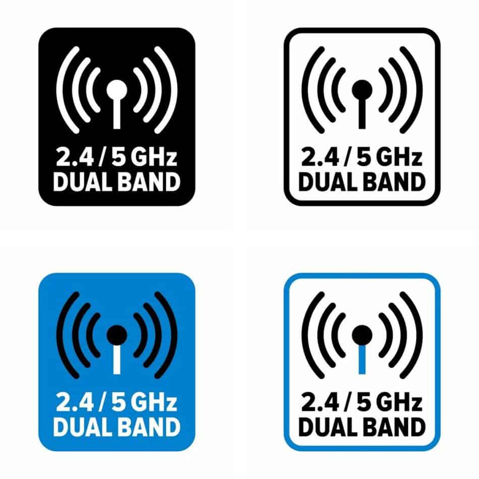 2.4 and 5.0 GHz Wi-Fi information sign